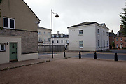 A traditionally styled building in Poundbury. Poundbury on Duchy of Cornwall land is Prince Charles' attempt to create an urban extension to Dorchester famed for Its pastiche of traditional architecture. Dorset, UK