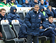 Brighton Manager Chris Hughton during the Sky Bet Championship match between Brighton and Hove Albion and Nottingham Forest at the American Express Community Stadium, Brighton and Hove, England on 7 February 2015. Photo by Phil Duncan.