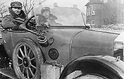 World War I: Volunteer women drivers in a Wolseley, donated towards the war effort: Cambridge 1915