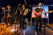 WASHINGTON, DC - March 21st, 2014 - Macaulay Culkin, Deenah Vollmer and Matt Colbourn of the Pizza Underground perform at the Black Cat in Washington, D.C. (Photo by Kyle Gustafson / For The Washington Post)