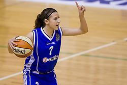 Rebeka Abramovic of Celje at finals match of Slovenian 1st Women league between KK Hit Kranjska Gora and ZKK Merkur Celje, on May 14, 2009, in Arena Vitranc, Kranjska Gora, Slovenia. Merkur Celje won the third time and became Slovenian National Champion. (Photo by Vid Ponikvar / Sportida)