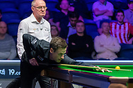 Action the opening frames of the Quarter Final match David Gilbert vs Judd Trump during the 19.com Home Nations Scottish Open at the Emirates Arena, Glasgow, Scotland on 13 December 2019.