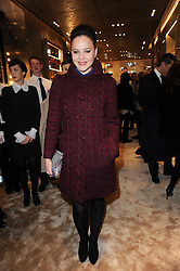 Actress ABBIE CORNISH at a Cocktail party to celebrate the opening of the new Miu Miu boutique, 150 New Bond Street, London hosted by Miuccia Prada and Patrizio Bertelli on 3rd December 2010.