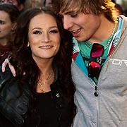 NLD/Amsterdam/20100415 - Uitreiking 3FM Awards 2010, Saar Koningsberger en partner Wouter