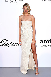 Hailey Clauson attending the 25th amFAR Gala held at the Hotel du Cap-Eden-Roc in Antibes as part of the 71st Cannes Film Festival
