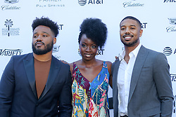 """Jan 4th, 2019. Palm Springs, ca. USA. Black Panther Director, RYAN COOGLER and Black Panther stars, Actors, DANAI GURIRA, and  MICHAEL B. JORDAN at the """"Variety Creative Impact Awards"""" held during the 30th Palm Springs International Film Festival. The Awards took place at the Parker Hotel. Photo by Dane Andrew c.2019 / Total Entertainment News. TEN.  408 666-8388  TenPressMedia@gmail.com"""