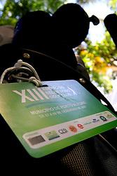 Credenciais de jogo do XIII Aberto do Belém Novo Golf Club.  FOTO: Itamar Aguiar/Preview.com