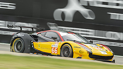 May 11, 2019 - Monza, MB, Italy - JMW MOTORSPORT Ferrari 488 GTE EVO (Segal, Cressoni and Lu) in the middle of fast Ascari chicane in Monza during Free Practice Session 2 of ELMS italian round. (Credit Image: © Riccardo Righetti/ZUMA Wire)