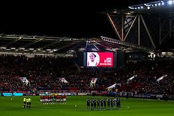 Bristol City and Millwall observe a minutes applause for Amora Afobe daughter of Benik Afobe of Bristol City - Mandatory by-line: Robbie Stephenson/JMP - 10/12/2019 - FOOTBALL - Ashton Gate - Bristol, England - Bristol City v Millwall - Sky Bet Championship