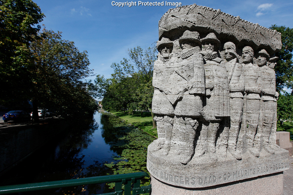 A monument to the canal workers in Den Haag, Holland