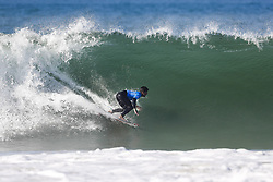 October 25, 2017 - Former World Champion Gabriel Medina of Brazil keeps his World Title hopes alive by advancing to the Final of the MEO Rip Curl Pro Portugal after defeating Kanoa Igarashi of the USA in Semifinal Heat 2 at Supertubos, Peniche, Portugal...MEO Rip Curl Pro Portugal 2017, Oeste Subregion, Portugal - 25 Oct 2017 (Credit Image: © Rex Shutterstock via ZUMA Press)