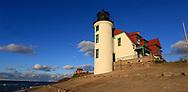 The Point Betsie Lighthouse on Lake Michigan, Michigan, USA