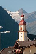 St. George church, build in 1768, Neustift, Stubaital - Stubai valley, Tyrol, Austria