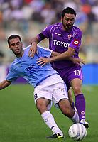 Fotball<br /> Serie A Italia<br /> Foto: Graffiti/Digitalsport<br /> NORWAY ONLY<br /> <br /> Roma 16/10/2005 <br /> <br /> Lazio v Fiorentina 1-0<br /> <br /> Luciano Zauri Lazio Stefano Fiore Fiorentina