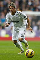 27.01.2013 SPAIN -  La Liga 12/13 Matchday 21th  match played between Real Madrid CF vs Getafe C.F. (4-0) at Santiago Bernabeu stadium. The picture show Fabio Alexandre Coentrao (Potuguese defender of  Real Madrid)