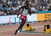 Athletics - 2017 IAAF London World Athletics Championships - Day Four, Evening Session<br /> <br /> Mens 200m Round 1<br /> <br /> <br /> Jereem Richards (Trinidad and Tobago) rounds the bend at the London Stadium<br /> <br /> COLORSPORT/DANIEL BEARHAM