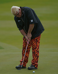 May 24, 2019 - Benton Harbor, NY, U.S. - ROCHESTER, NY - MAY 24: John Daly putts during the second round of the KitchenAid Senior PGA Championship at Oak Hill Country Club on May 24, 2019 in Rochester, New York. (Photo by Jerome Davis/Icon Sportswire) (Credit Image: © Jerome Davis/Icon SMI via ZUMA Press)