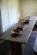 Communal dining room, Ephrata Cloister, Pennsylvania, USA