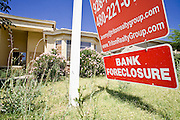 June 02, 2008 - Queen Creek, AZ: A foreclosed upon home for sale on Via Del Oro St. in Queen Creek, AZ. Queen Creek, on the fringe of the Phoenix metropolitan area has been hit hard by the subprime mortgage meltdown and collapse of the housing market. The town is being forced to slash its budget and scale back on development plans. Photo by Jack Kurtz / ZUMA Press