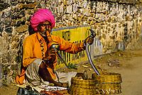 Snakecharmer, Pushkar Fair (camel fair), Pushkar, Rajasthan, India
