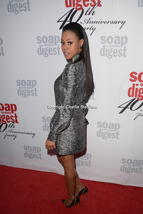 VINESSA ANTOINE at Soap Opera Digest's 40th Anniversary party at The Argyle Hollywood in Los Angeles, California