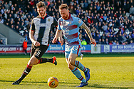 Gary MacKenzie of St Mirren & Craig Curran of Dundee FC during the Ladbrokes Scottish Premiership match between St Mirren and Dundee at the Paisley 2021 Stadium, St Mirren, Scotland on 30 March 2019.