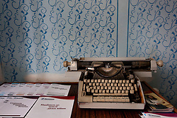 A typewriter is seen in the local library turned paralegal office in one of the villages outside of Zinkiv, Ukraine, June 17, 2011. More than half of the worldÕs population, four billion people, live outside the rule of law, with no effective title to property, access to courts or redress for official abuse. The Open Society Justice Initiative is involved in building capacity and developing pilot programs through the use of community-based advocates and paralegals in Sierra Leone, Ukraine and Indonesia. The pilot programs, which combine education with grassroots tools to provide concrete solutions to instances of injustice, help give poor people some measure of control over their lives.