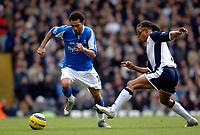 Photo: Daniel Hambury.<br />Tottenham Hotspur v Birmingham City. The Barclays Premiership. 26/12/2005.<br />Tottenham's Edgar Davids (R) chases Birmingham's Jermaine Pennant.
