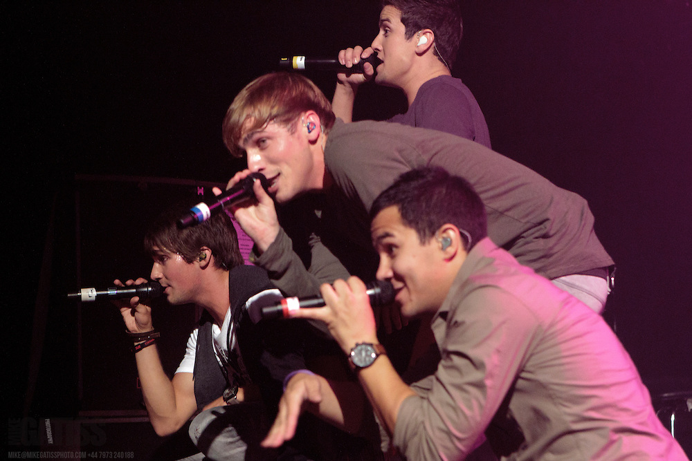 Big Time Rush performing live at Manchester Academy, Manchester, 2011-07-08