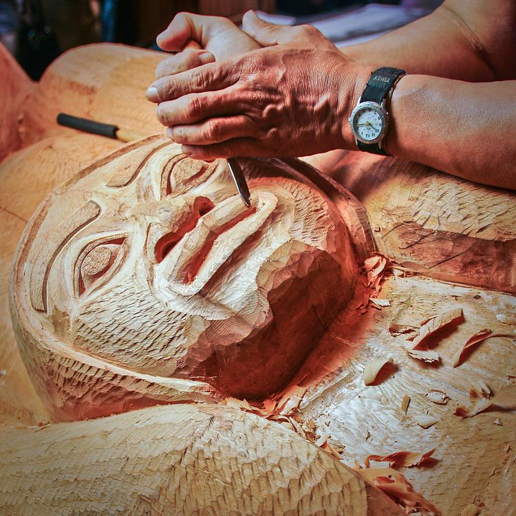 Tlingit/Haida, Master carver, Nathan Jackson, Saxman, MR