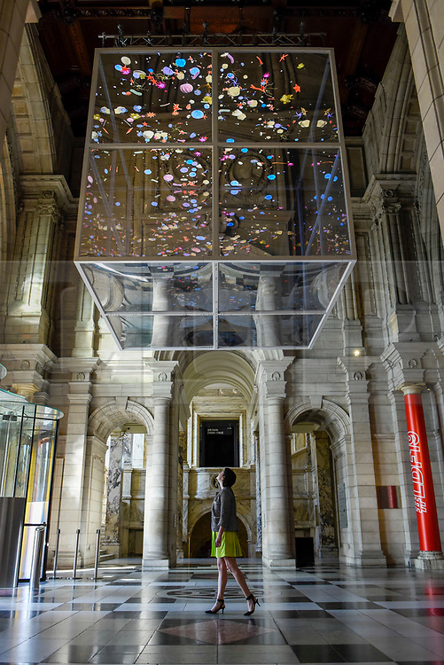 """© Licensed to London News Pictures. 13/09/2019. LONDON, UK. """"Sea Things"""" by Sam Jacobs on display at the V&A museum as part of London Design Festival.  The festival, now in its 17th year, includes installations across the capital and runs 14 to 22 September 2019.  Photo credit: Stephen Chung/LNP"""