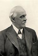 Arthur James Balfour (1848-1930) 1st Baron Balfour; Scottish-born British Conservative statesman; Prime Minister 1902-1905 Balfour Declaration (1917). Halftone.