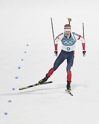 PYEONGCHANG, Feb. 15, 2018  Norway's Johannes Thingnes Boe crosses finishing line of men's 20km individual event of biathlong at 2018 PyeongChang Winter Olympic Games at Alpensia Biathlon Centre, PyeongChang, South Korea, Feb. 15, 2018. (Credit Image: © Bai Xuefei/Xinhua via ZUMA Wire)