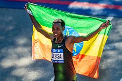 04-11-2018 USA: 2018 TCS NYC Marathon, New York<br /> Race day TCS New York City Marathon / Lelisa Desisa win 2018 TCS New York City Marathon Title