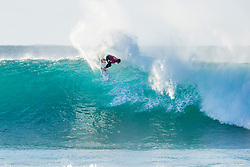 2015 World Champion Gabriel Medina of Brazil advances to Round Four of the Corona Open J-Bay after defeating Bede Durbidge of Australia in Heat 2 of Round Three in pumping overhead conditions at Supertubes, Jeffreys Bay, South Africa.