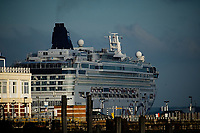 The Carnival Breeze docked in Southampton ,is a Dream-class cruise ship of Carnival Cruise Line photo By Michael Palmer