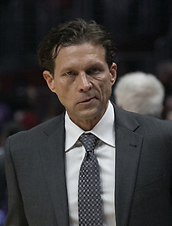 November 30, 2017 - Los Angeles, California, United States of America - Head coach,Quin Snyder of the Utah Jazz during their game with the Los Angeles Clippers on Thursday November 30, 2017 at the Staples Center in Los Angeles, California. Clippers lose to Jazz, 126-107. JAVIER ROJAS/PI (Credit Image: © Prensa Internacional via ZUMA Wire)