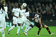 Moussa Sissoko of Tottenham Hotspur (c)  in action. UEFA Champions league match, group E, Tottenham Hotspur v Bayer Leverkusen at Wembley Stadium in London on Wednesday 2nd November 2016.<br /> pic by John Patrick Fletcher, Andrew Orchard sports photography.