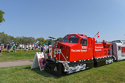 August 23, 2018 - Regina, SK, U.S. - REGINA, SK - AUGUST 23: A mini Canadian Pacific train sits on display near the green on 9 during the CP Women's Open Round 1 at Wascana Country Club on August 23, 2018 in Regina, SK, Canada. (Photo by Ken Murray/Icon  (Credit Image: © Ken Murray/Icon SMI via ZUMA Press)