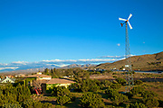 Residential wind turbine, Palmdale, Los Angeles County, California, USA