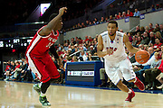 DALLAS, TX - JANUARY 21: Nick Russell #12 of the SMU Mustangs drives to the basket against the Rutgers Scarlet Knights on January 21, 2014 at Moody Coliseum in Dallas, Texas.  (Photo by Cooper Neill/Getty Images) *** Local Caption *** Nick Russell