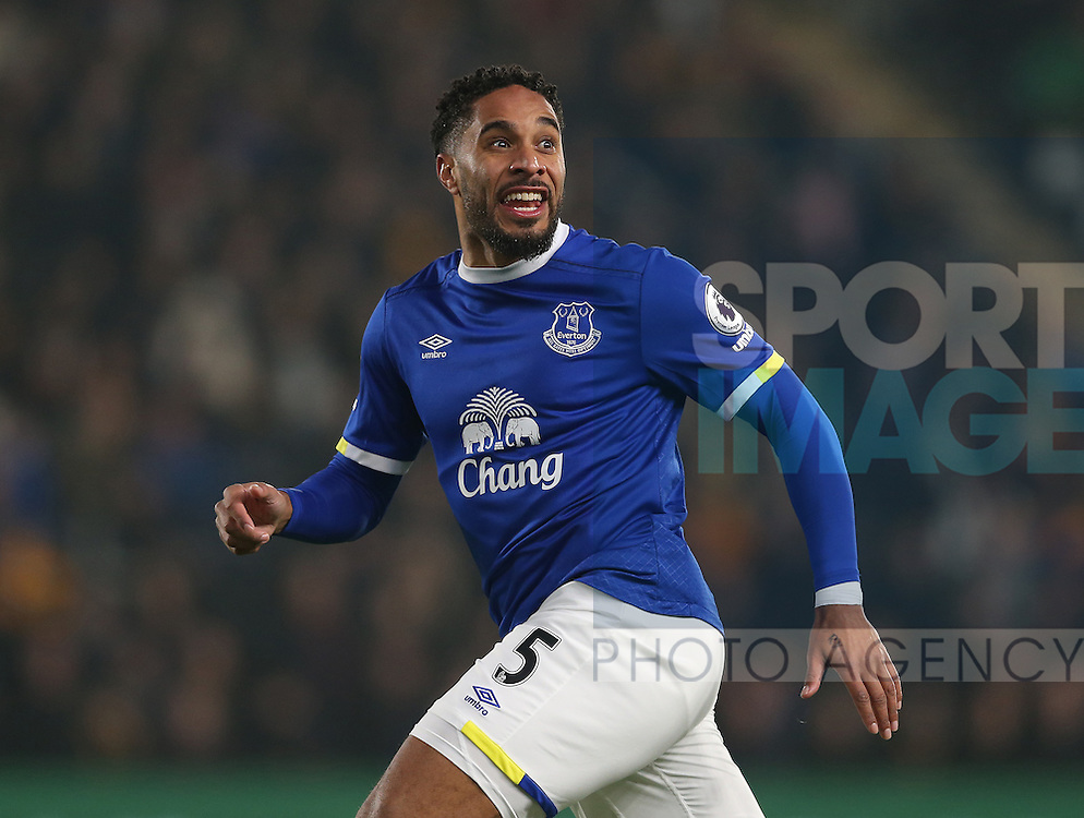 Ashley Williams of Everton during the English Premier League match at the KCOM Stadium, Kingston Upon Hull. Picture date: December 30th, 2016. Pic Simon Bellis/Sportimage