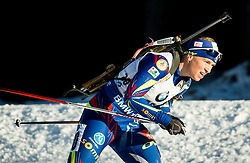 Anais Bescond (FRA)  during Women 12.5 km Mass Start at day 4 of IBU Biathlon World Cup 2015/16 Pokljuka, on December 20, 2015 in Rudno polje, Pokljuka, Slovenia. Photo by Vid Ponikvar / Sportida