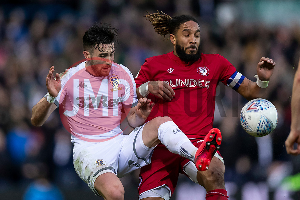 Jack Harrison of Leeds United and Ashley Williams of Bristol City - Mandatory by-line: Daniel Chesterton/JMP - 15/02/2020 - FOOTBALL - Elland Road - Leeds, England - Leeds United v Bristol City - Sky Bet Championship