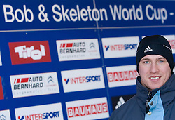 Anze Setina of Slovenia before he is going to compete during 1st Run of FIBT Bob & Skeleton World Cup Innsbruck-Igls race on January 23, 2009 in Igls, Innsbruck, Austria. (Photo by Vid Ponikvar / Sportida)