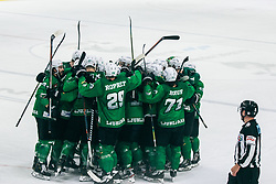 Olimpija after wining the 500th derbi between HK SZ Olimpija Ljubljana vs HDD SIJ Acroni Jesenice  - AHL 2019/20, on the 26th of  Oktober, Ljubljana, Slovenia. Photo by Matic Ritonja / Sportida