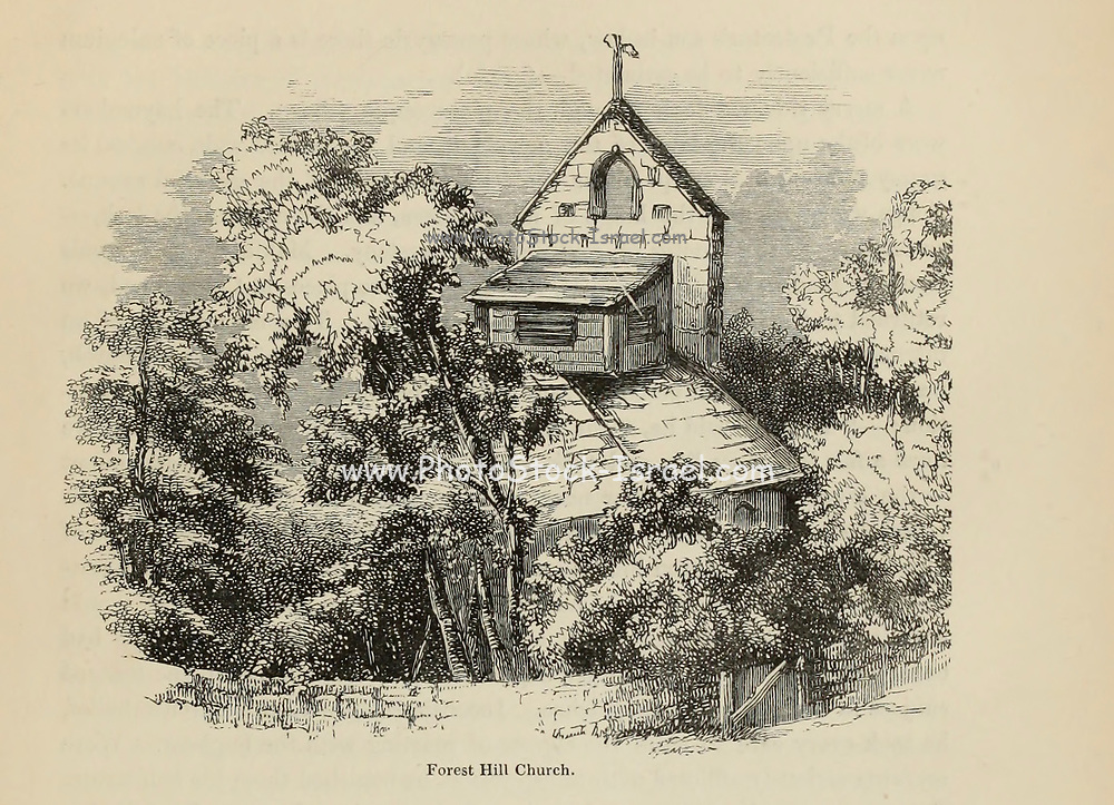 Forest Hill Church From the book The wanderings of a pen and pencil by Palmer, F. P. (Francis Paul); Illustrated by Crowquill, Alfred, [Alfred Henry Forrester]  Published in London by Jeremiah How in 1846