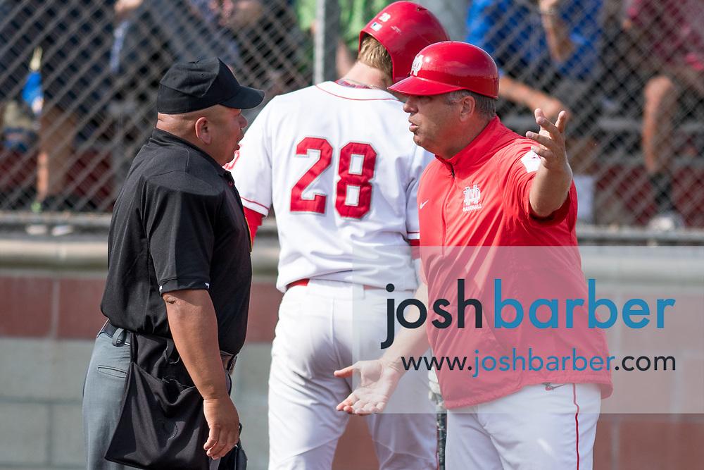 Mater Dei's Blake Hunt during the CIF-SS Division 1 Baseball Semifinal: El Toro v Mater Dei at Mater Dei High School on Tuesday, May 30, 2017 in Santa Ana, California. (Photo/Josh Barber)