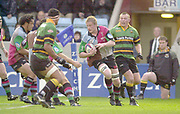 Twickenham, Surrey. England, UK.,02.05.2003, Simon MIALL,  Zurich Premiership Rugby match, Harlequins v Northampton Saints, played at the Stoop Memorial Ground, [Mandatory Credit:Peter Spurrier/ Intersport Images]