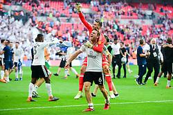 Kevin McDonald of Fulham celebrates with Marcus Bettinelli of Fulham - Mandatory by-line: Dougie Allward/JMP - 26/05/2018 - FOOTBALL - Wembley Stadium - London, England - Aston Villa v Fulham - Sky Bet Championship Play-off Final